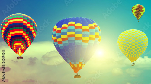 Sun hot air balloons