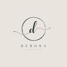 Simple Elegant Letter D Logo W...