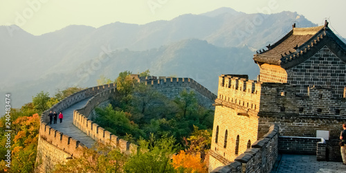 Photo sur Toile Muraille de Chine The fortress tower Plot Mutianyu Great Wall