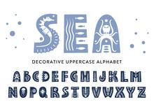 Vector Uppercase Alphabet Deco...