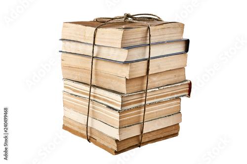 Fotografie, Obraz  Bundle of old books tied up with string