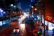 Bangkok city at night time. Thailand.