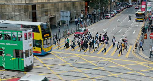 Foto op Aluminium Hong Kong traffic