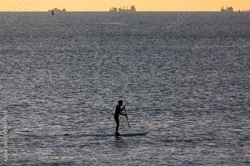 Fotografie, Obraz  Stand up paddle au Havre