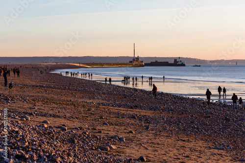 Fotografie, Obraz  Plage du Havre
