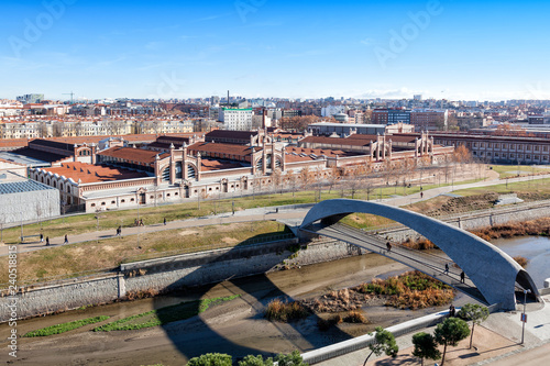 Matadero Cultural Center view in Madrid, Spain Canvas Print