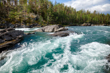 Sjoa River Rapids Oppland Norway Scandinavia