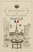 Vector Menu For Parisian Stree...