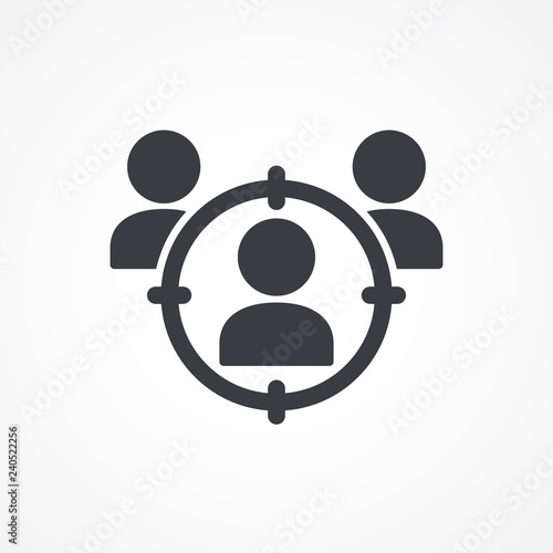 Headhunting, user icon  Target audience  Customer, client targeting