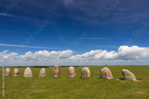 Fotografie, Obraz  Ales Stenar - a megalithic monument in Scania in southern Sweden.