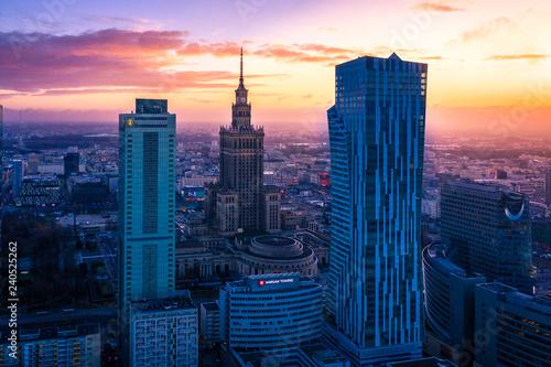 Fototapeta Warszawa z lotu ptaka obraz