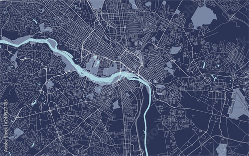 Fotomural map of the city of Richmond, Virginia, USA