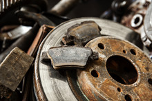 Old Rusty Car Parts With Shallow Depth Of Field