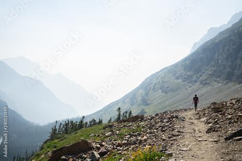 Fotografia, Obraz  Glacier National Park hiking