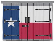 Old Hardwood Barn Door With Texas Flag