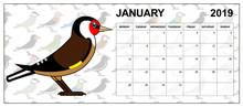 January 2019 Calendar On Engli...