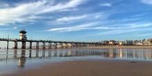 Huntington Beach Pier Near Sunset