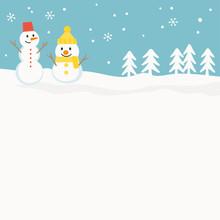 Snowman Background Illustration