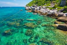 Seashore Rocky Sea Beach Turquoise Water