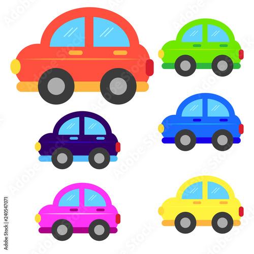 Staande foto Cartoon cars car cartoon or car Clipart cartoon isolated on white background illustration