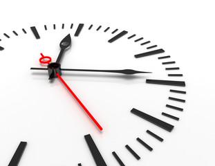 time concept clock closeup 3d