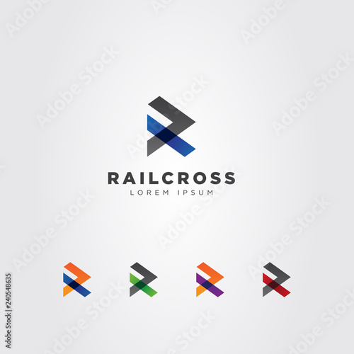 Photo  Abstract Initial Letter R Cross Logo Sign Symbol Icon