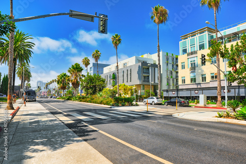 City views, Santa Monica streets - a suburb of Los Angeles. California.USA.