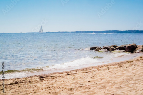 Fotografie, Tablou  The overlooking view of the shore in Massachusetts at Cape Cod Beach