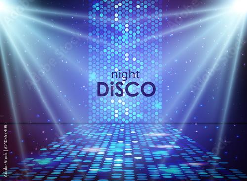 Fotografie, Obraz Disco abstract background. Disco ball texture. Spot light rays
