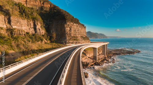 Scenic and sunny day on the Sea Cliff Bridge Fototapeta