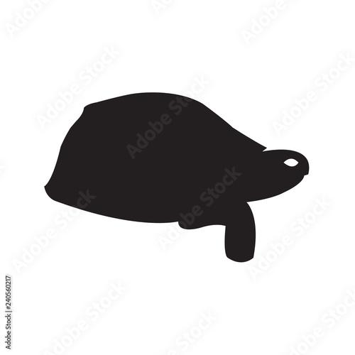 Fotografie, Obraz  Tortoise silhouette Vector Icon