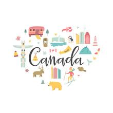 Canada Cartoon Vector Banner. ...