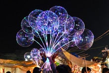 Ballons In Festival Holidays For Sale Night Time  Travel Blue India