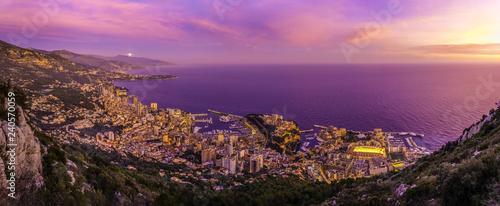 Fotobehang Nice Principauté de Monaco (coucher de soleil)