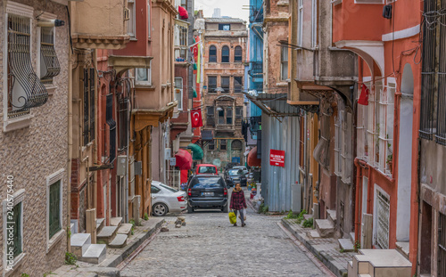 Fotobehang Havana Istanbul, Turkey - even if almost unknown among the tourists, the districts of Fener & Balat are maybe the most typical and colorful areas of Istanbul, with their Greek, Jewish and Byzantine heritage