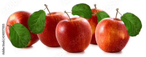 Valokuva  isolated image of apples closeup