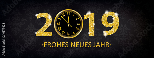 Uhr 2019 Frohes Neues Jahr