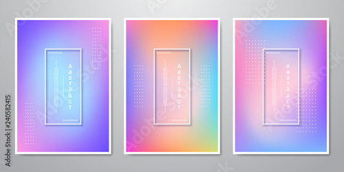 Fototapeta Abstract Trendy Gradient Shapes Holographic Backgrounds for Mobile Screen, Advertising, Backdrop, Brochure, Cover, Flyer, Invitation, Music Poster, Poster, Wallpaper, And Others obraz na płótnie