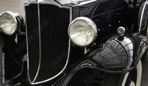 Old collection car Canvas Print