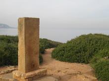 Stele Erected In Memory Of Albert Camus - Tipaza