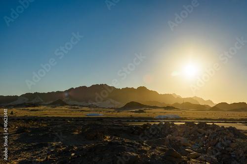 Spoed Foto op Canvas Grijze traf. Mountains in arabian desert not far from the Hurghada city, Egypt