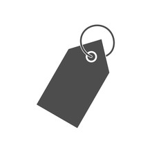 Price Tag Icon. Vector Illustration, Flat Design.