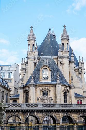 Medieval castle in the center of Paris Canvas Print