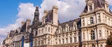 Wide Panorama Of Hotel De Ville In Paris