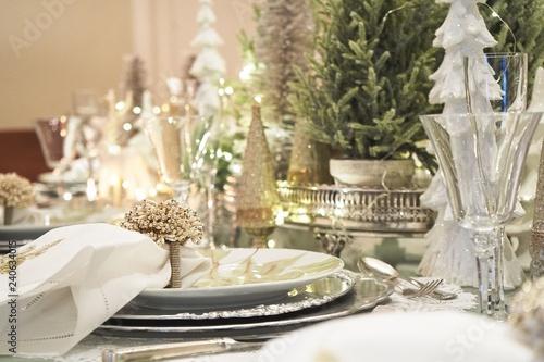 Fotografie, Tablou  Christmas tablescape decoration