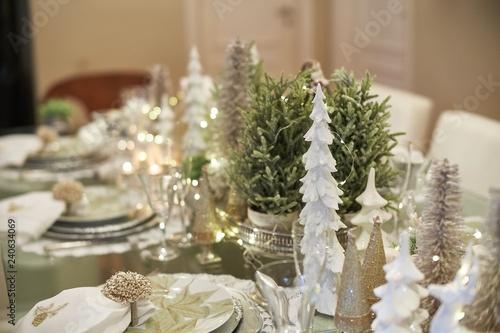 Christmas tablescape decoration Fototapet