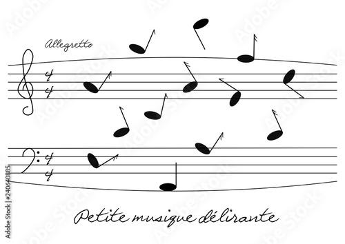 Partition d'une musique en délire Canvas Print
