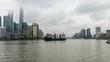 China Shanghai Bund Time lapse 4K 24 frames