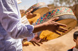 canvas print picture - Berber Wedding In Merzouga Desert