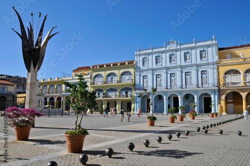 Plaza Vieja, La Habana, Havanna, Kuba Canvas Print